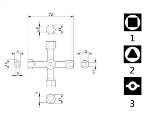 cle multifonction 6 en 1