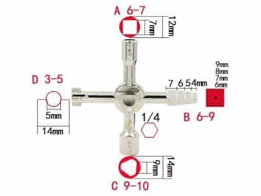 clef multifonction fiche technique