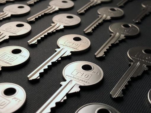 clés ptt à plat recto