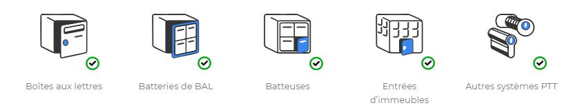 icônes BAL lockpass