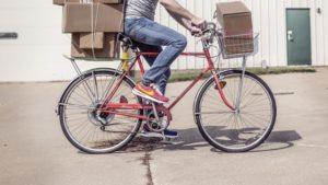 livreur trousseau vélo